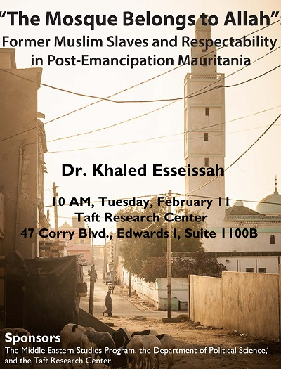 Esseissah flyer, mosque in background
