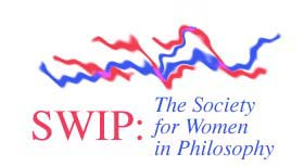 Society for Women in Philosophy - logo in red and blue